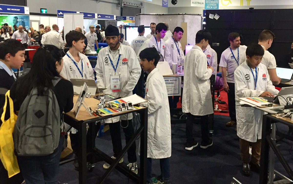 How good is this?! Our Big Picture boys demonstrating T4L at @EduTECH_AU 👏👍 #T4L #EduTECHAU #STEM #innovation #NSWeducation #LBHScommunity – at International Convention Centre Sydney (ICC)