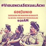 Image for the Tweet beginning: #SíHuboGenocidioyViolenciaSexual #ViolenciaSexualAchi exigimos Justicia #noalaamnistía