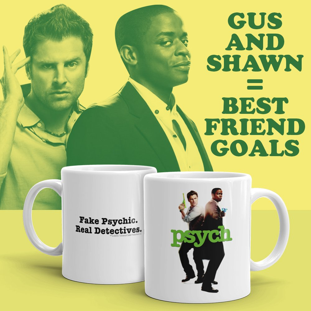 It's Best Friends Day! Why not Psych up your morning routine with a new Gus & Shawn mug? 🙌☕️ bit.ly/2WrBPAs