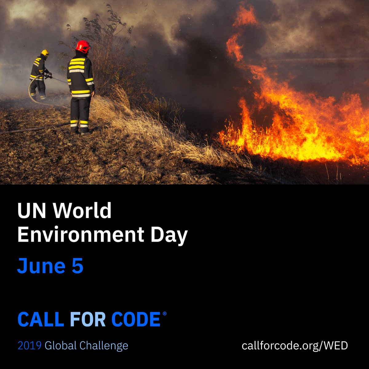 On UN #WorldEnvironmentDay join me in promoting #CallforCode, a global #TechforGood initiative that helps the most vulnerable among us with @UNHumanRights & @RedCross. Everyone deserves a safe & healthy environment after natural disasters strike. Visit: bit.ly/2JOEAod