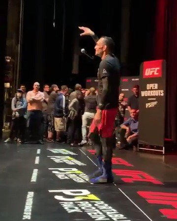 Hit some b-boy moves and drop the mic...  Champ S--- Only for @TonyFergusonXT #UFC238