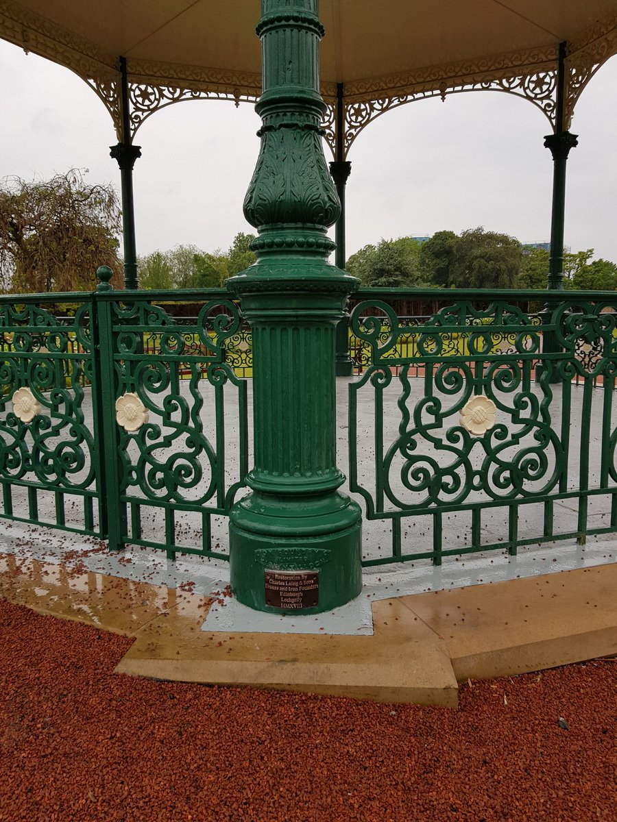 Finishing touches to our Bandstand for today's opening by HRH The Princess Royal #ironworkthursday #bandstands