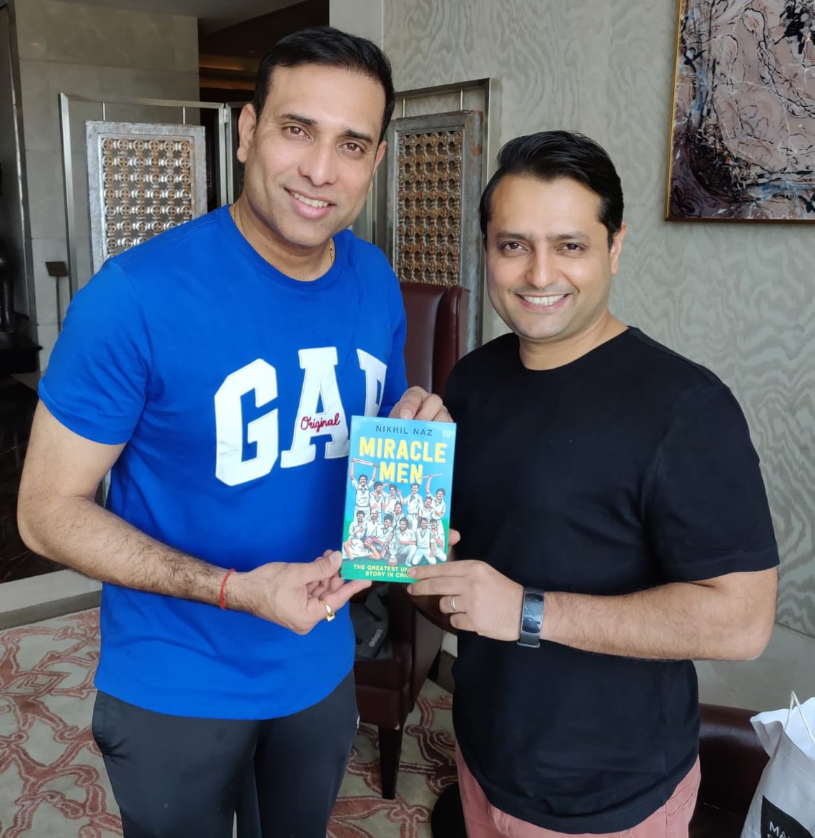 Congratulations ⁦@NikhilNaz⁩ on your new book 'Miracle Men' Thoroughly enjoyed reading it. Very good account of 1983 India's World Cup victory.
