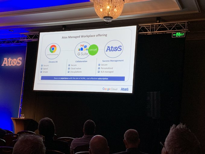 Second day at #PowerUpPartners19. @AtosWorkplace Google +...