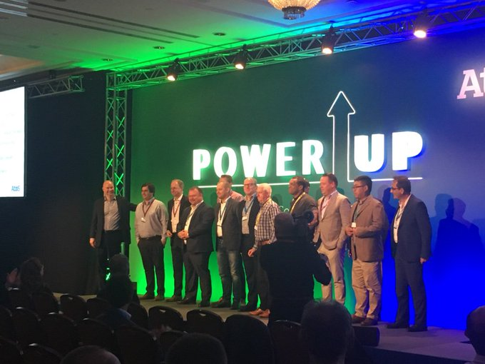 🔝🏅All of our winners up on stage to celebrate the final day of #PowerUpPartners19....