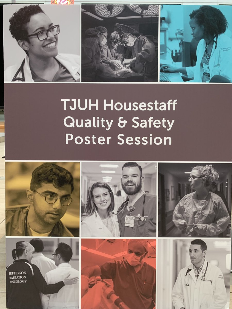 Please stop by our Housestaff #Quality and #Safety Poster Session. Happening now in Atrium Cafe 11th Street side @TJUHospital  #WeImproveLives.