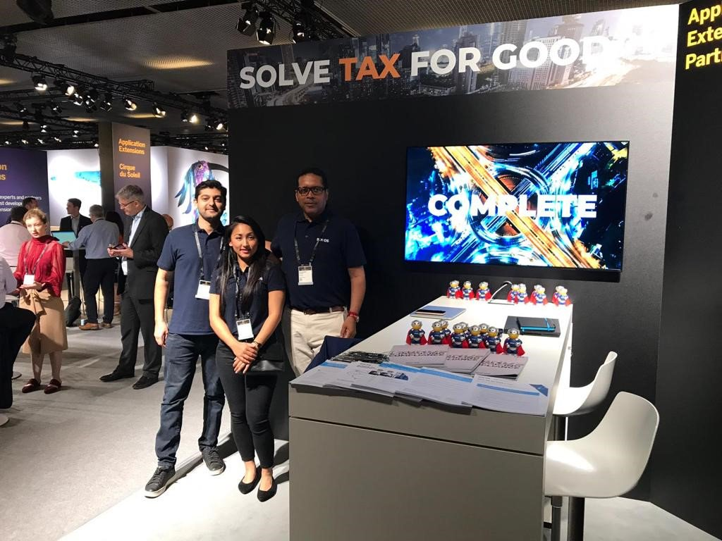 It's the final day at #SAPAribaLive but there's still time to talk to us about what S/4HANA means for your tax compliance reporting. Stop by stand G7. #SolveTaxforGood