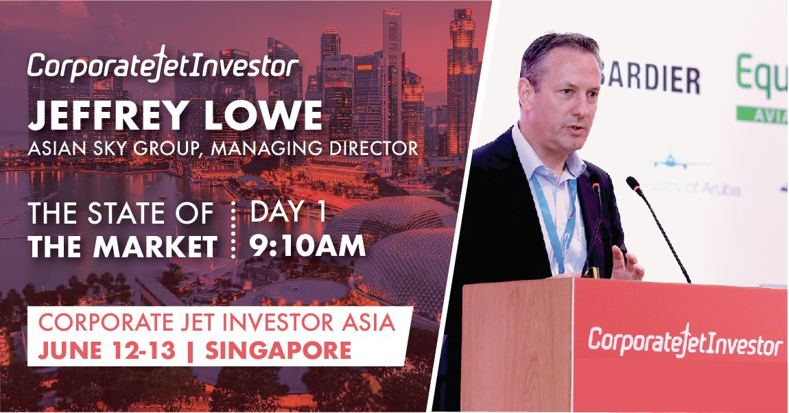 #AsianSkyGroup will be at this year's @CorpJetInvestor Asia. Presence on Day 2:  14:35 The view across Asia Jeffrey Lowe, Managing Director  15:45 Asian business aviation revolution 2030 Nadav Kessler, Sales & Business Development Director  Agenda: https://corporatejetinvestor.com/asia-2019-agenda/ …
