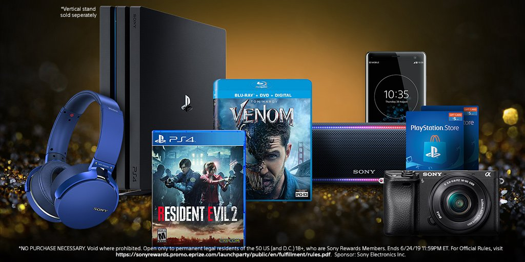 We're celebrating the launch of the all-new #SonyRewards app with an epic giveaway. Win 1,000s of prizes, including PSN codes, wireless speakers, and much more. (U.S. only) https://go.sony.com/2UUDuZX