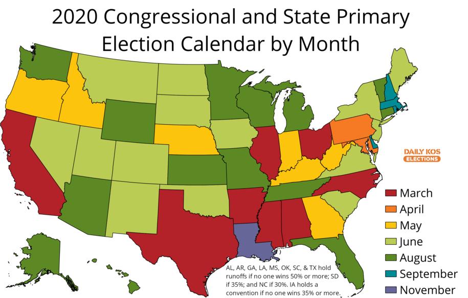 Filing Deadline Calendar For 2020 Daily Kos Elections on Twitter: