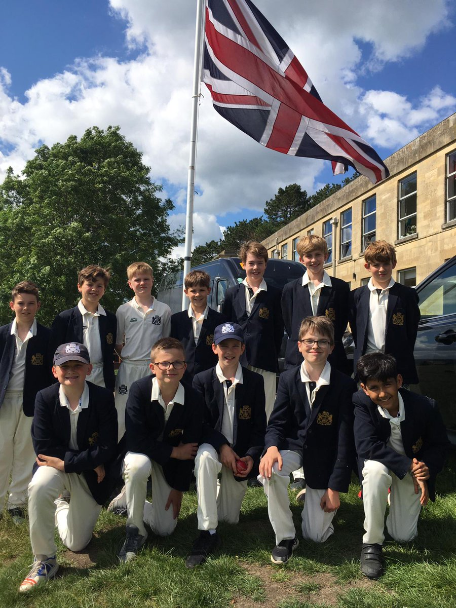 The Under 12B cricketers await the challenge on the anniversary of D-Day; a sacrifice by so many which made our freedom possible.