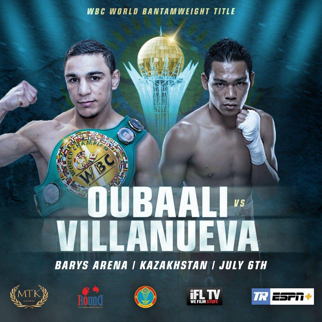 🔰Oubaali🔰 VS 💥Villanueva💥  Great show in Kazakhstan!!  #WBC #ConquerEverything #Boxing #OubaaliVillanueva