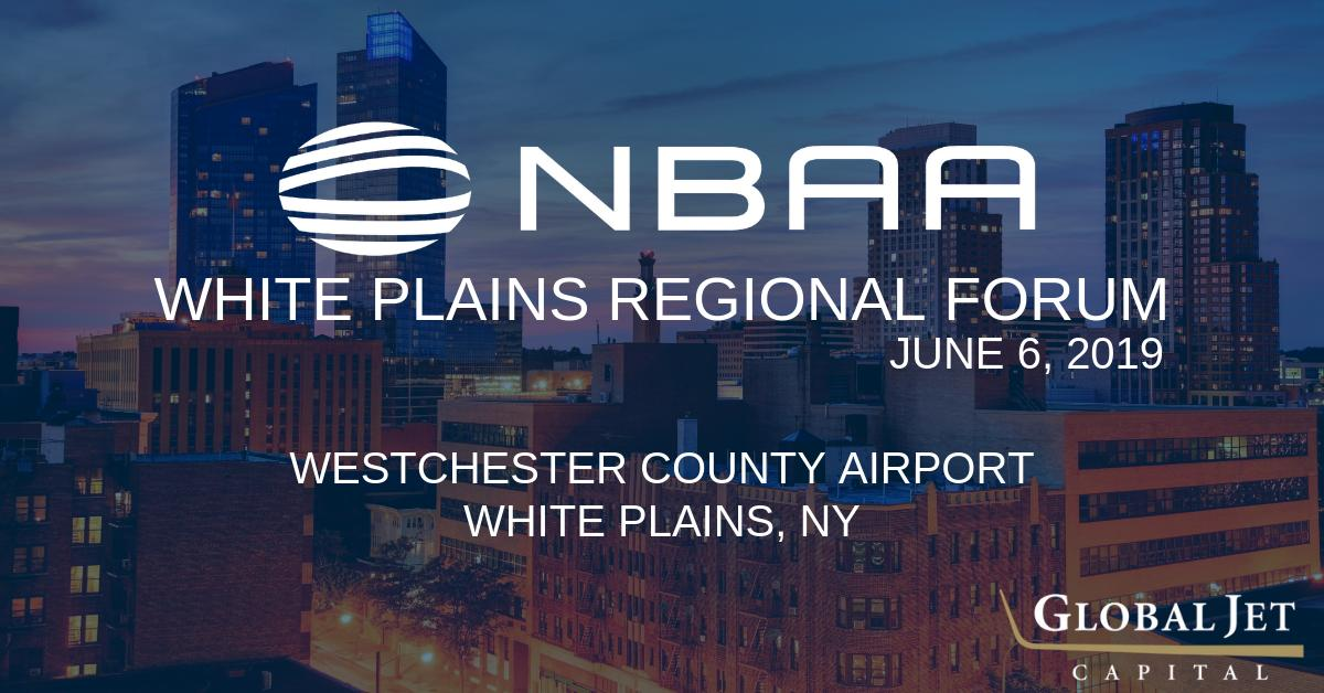 Global Jet Capital is looking forward connecting with business aviation vendors and customers in the region at the 2019 @NBAA White Plains Regional Forum today in New York. See you there! #bizav #nbaaforum