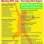 Image for the Tweet beginning: Torfaen Summer Activity Provisions 2019
