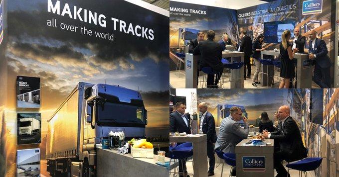 Colliers auf Achse<br>Impressionen von unserem Stand B5.125 auf der #transportlogistic2019 in #München. Wir freuen uns auf Ihren Besuch! t.co/sbRdcI5PgR