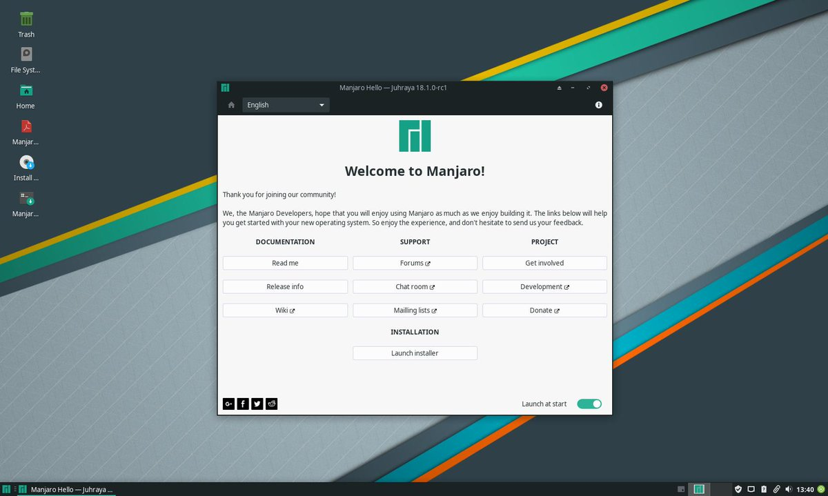 Manjaro XFCE 18 1 0-rc1 ISO (testing branch) - Announcements
