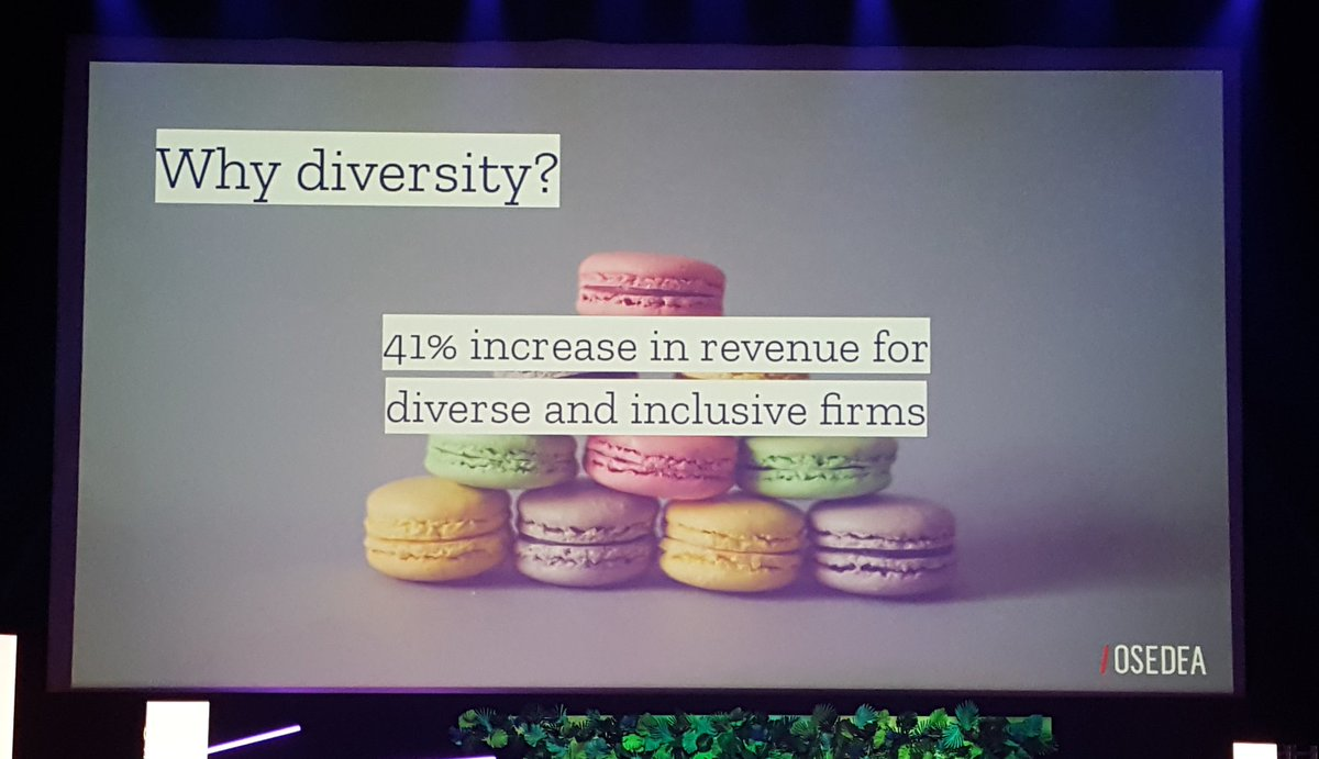 """#Web2day Let's talk about diversity and inclusion with Ivana Markovic from @OSEDEA  """"Be inspired by what others do !""""<br>http://pic.twitter.com/vXnSze7070"""