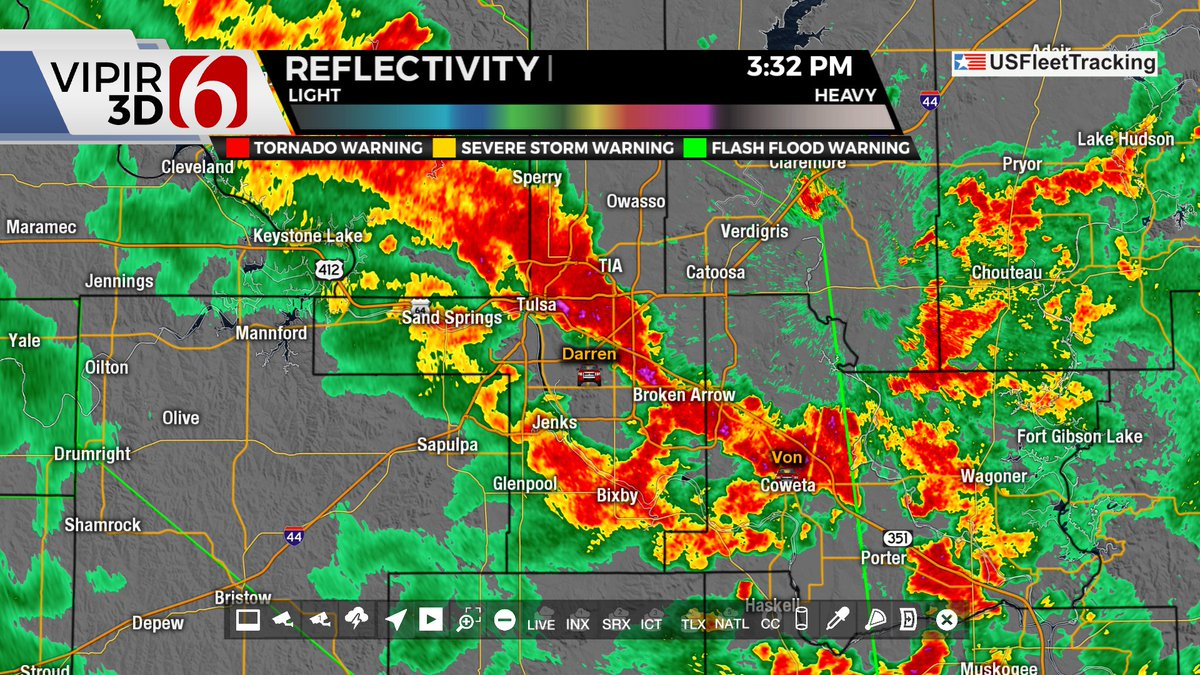 Flash flood warning for the metro. Including Haskell & Coweta up to Cleveland & Sperry. Heavy t-storms dropping copious amounts of rain. Be very careful traveling. Do not drive on flooded roads, no matter how deep the water is. @NewsOn6 #OKwx