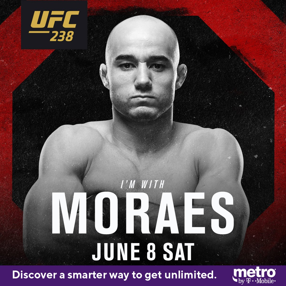 MAGIC 🎩  RT if you're w/ @MMarlonMoraes at #UFC238   LIVE on PPV exclusively on ESPN+ ➡️ http://bit.ly/tw_ufc238  @MetroByTMobile