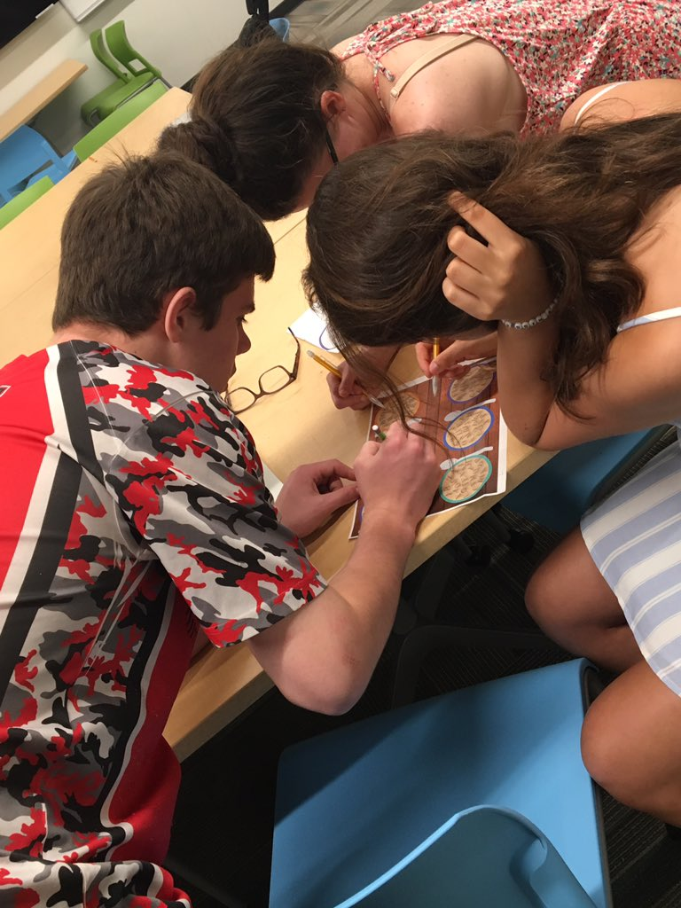 Lots of collaboration in this #BreakoutEdu!