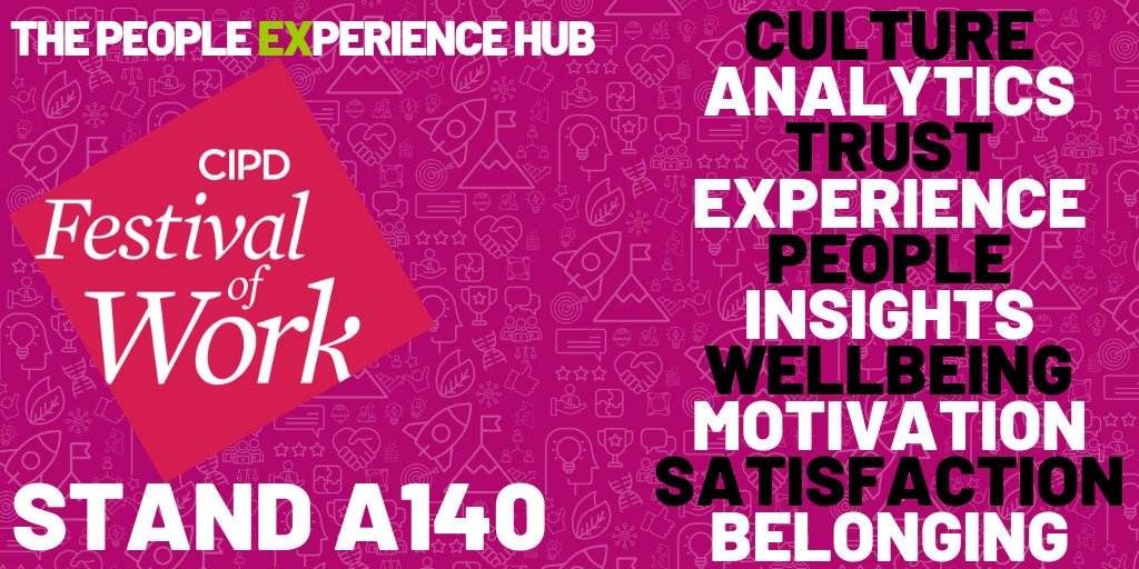 Next week @ThePxHub team will be at the @CIPD @FestivalofWork Pop by and see us on stand A140 to talk all things #PeopleExperience and if you fancy some #EmployeeBenefits chat then our friends at @caboodletec are on stand B78 doing amazing stuff! #FestivalofWork