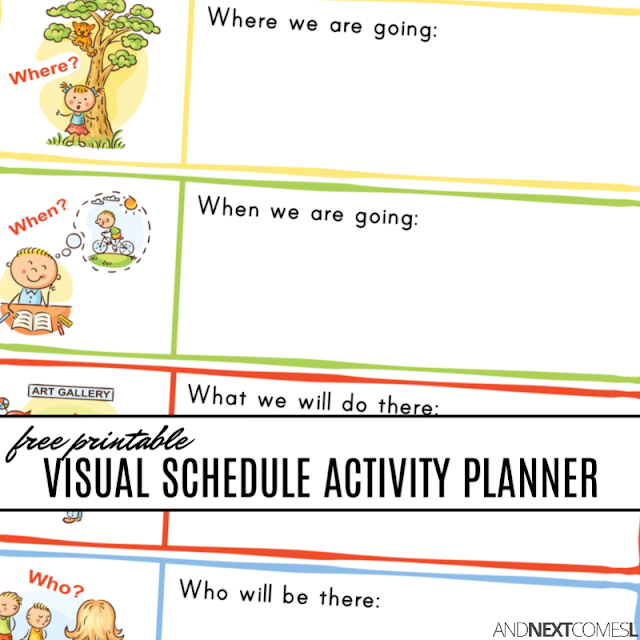 photograph about Printable Visual Schedule Pictures referred to as No cost printable visible routine planner for young children with autism