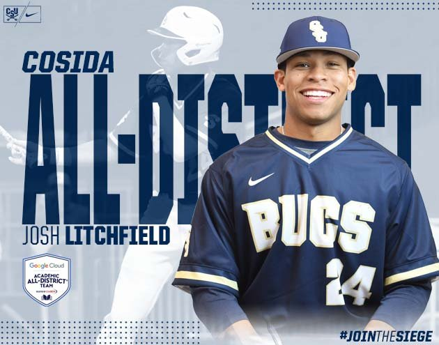 Another day, another pair of 🥇🏆 for @CSUBucsBaseball as seniors Cody Maw and Josh Litchfield earn All-Academic honors Thursday #CharlestonMade #JoinTheSiege 🔗https://bit.ly/2Wpj2WF