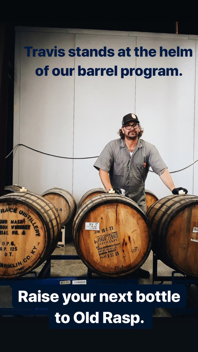 When you're enjoying one of our barrel-aged beers, raise that bottle to Travis who stands at the helm of our barrel program. ⠀ Cheers to you, Old Rasp! ⠀ #barrelaged⠀ #BuiltToBrew #losranchosbrew #brewery #nmbeer #craftbeer #nmdarksidebrewcrew #nmbrewersguild #drinklocal