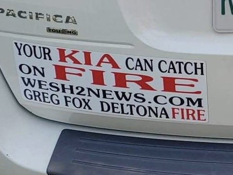 #WESH #Investigates @WESH has been investigating @Kia  and @Hyundai non crash fires, and one of our local fire victims is letting EVERYONE know, we're staying on top of this important story.