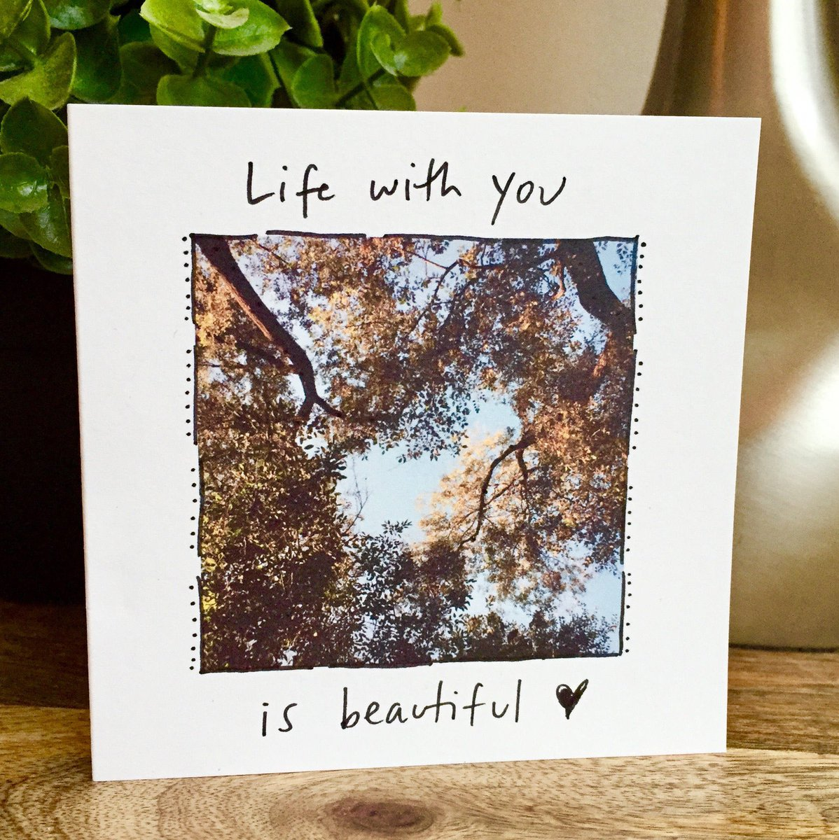 Excited to share the latest addition to my #etsy shop: Life is beautiful card, nature lover card, One Year Anniversary Card for husband, Paper Anniversary, anniversary card wife, 1st anniversary https://t.co/sESeSRcMoE #papergoods #naturelovercard #treecard #lifeisbeau https://t.co/e92dlmfci4