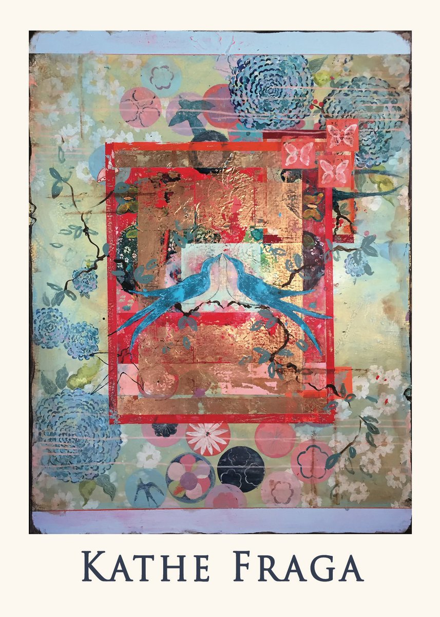 """New! """"Chinoiserie Garden"""" for June at Roby King Gallery,Bainbridge Island-"""
