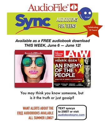 RT <a target='_blank' href='http://twitter.com/WestLibSys'>@WestLibSys</a>: Don't forget to download this week's free audiobooks from <a target='_blank' href='http://twitter.com/audiobookSYNC'>@audiobookSYNC</a> <a target='_blank' href='https://t.co/WK4YAQujFU'>https://t.co/WK4YAQujFU</a>