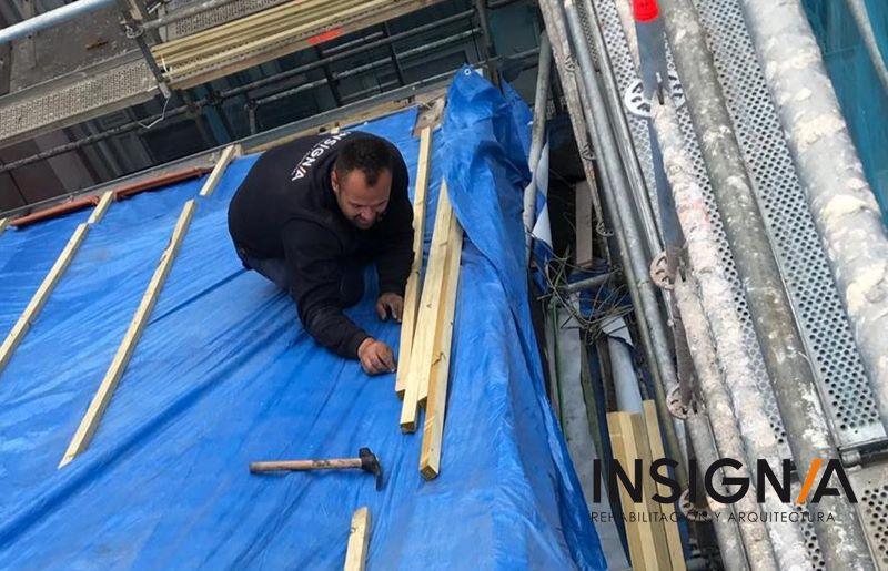 Desmontaje de cubierta para su rehabilitación en #Artekale #Bilbao #Bizkaia https://t.co/47XHbocbC4 https://t.co/xlZlYx1Uzn