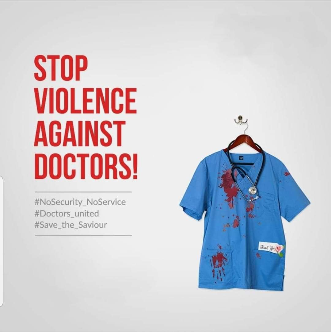 """""""We are not a terrorist, I am a doctor""""  And I don't deserve to die at my workplace. #SaveTheDoctors #doctors_against_assualt #SaveBengal #SaveMe <br>http://pic.twitter.com/jpLX45ikqY"""