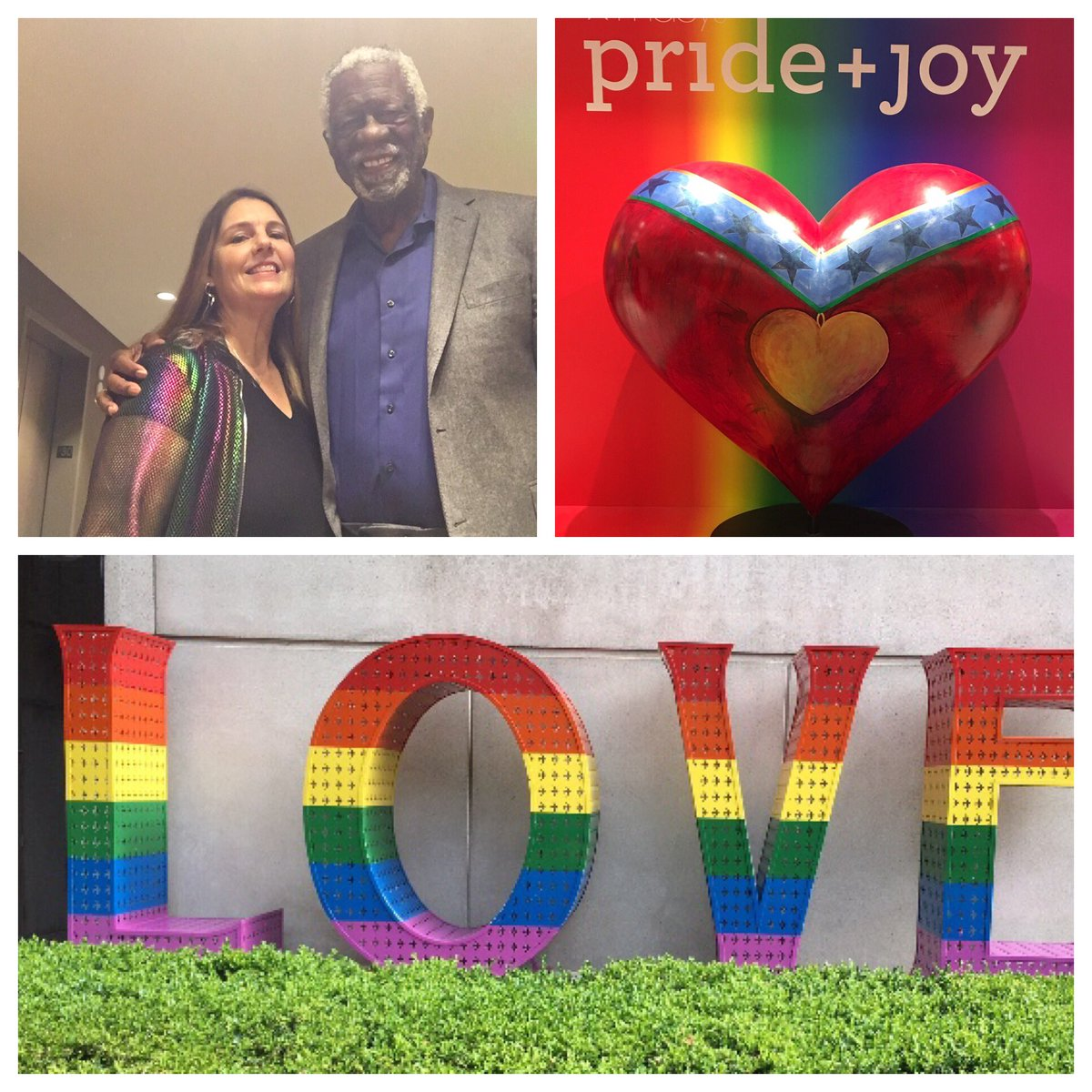 On our way to #Game6 @warriors vs @Raptors  #NBAFinals2019   Inspired by all the wonder #pride around San Francisco today. Love Is Love ❤️ #PrideMonth2019 @NBA