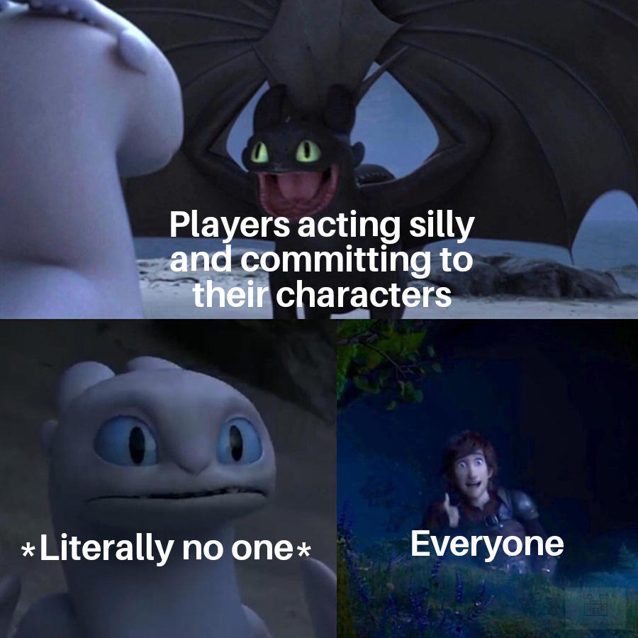 RP like no one is watching  #dnd #ttrpg #rpg #dungeonsanddragons #dndmemes #memes #dungeonmaster<br>http://pic.twitter.com/zyFnQCA9D8