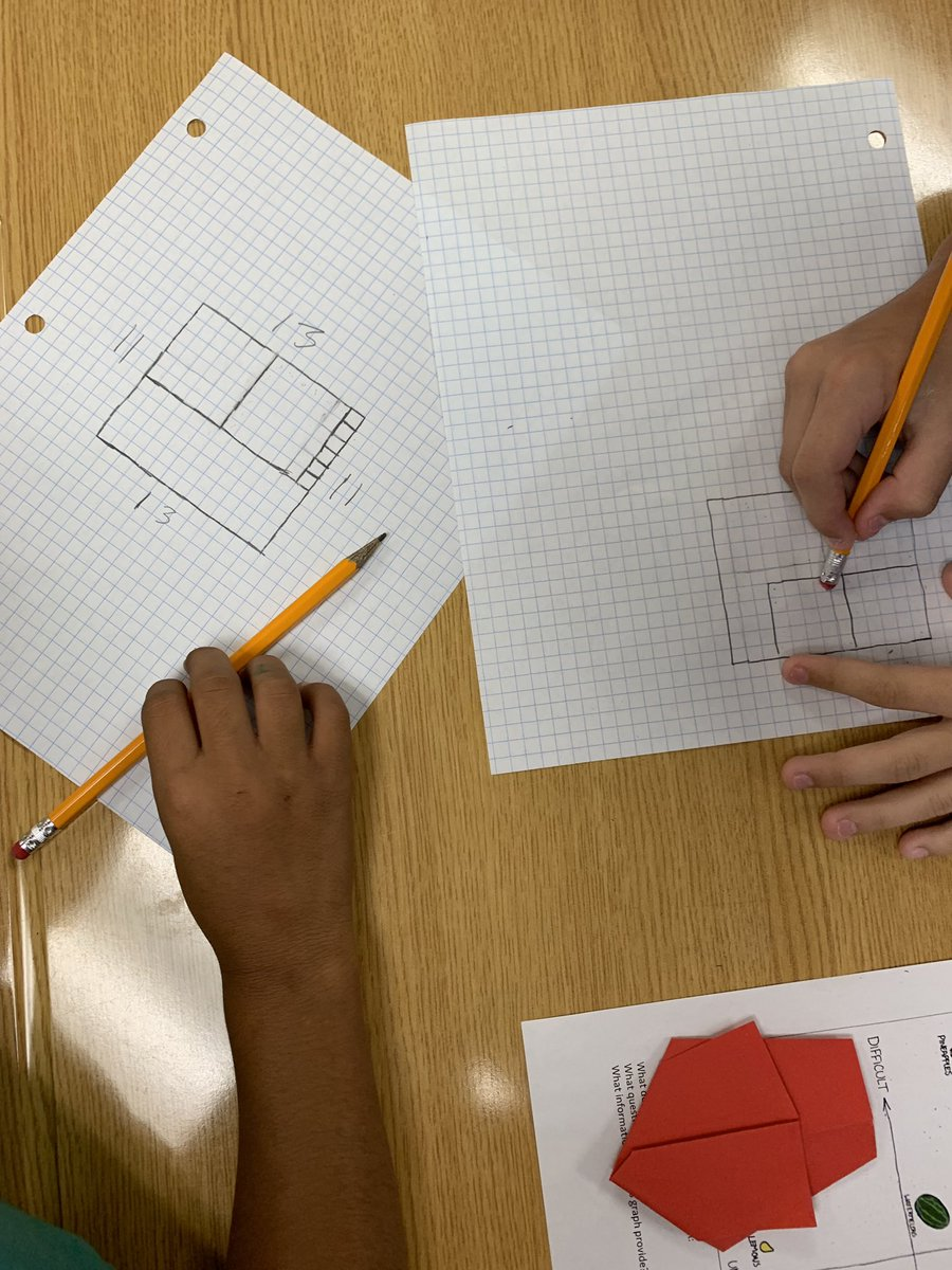Fewest Squares #youcubed When your square isn't really a square but a rectangle...back to the drawing board! The level of engagement and discussion made for great day! #perseverance #youcubedcamp #TCSDShare