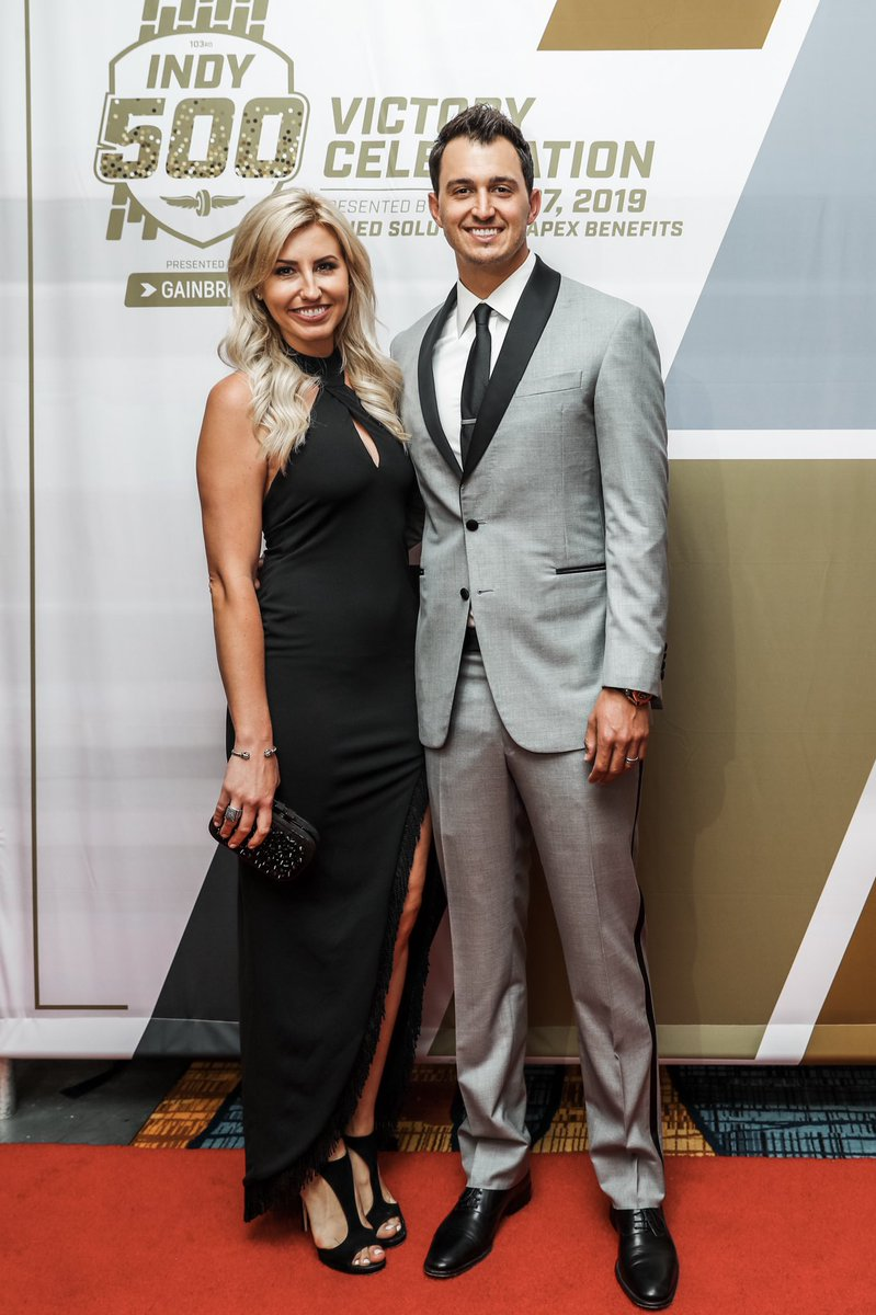 Throwback to a few weeks ago at the Indy 500 victory banquet. I'm so thankful to have had @courtneyforce by my side throughout the crazy month of May. #GR15 #15in19 #indycar #IMS #thisismay #thisisindy #monthofmay #indy500 #indianapolis #indy #URRacing #unitedrentals