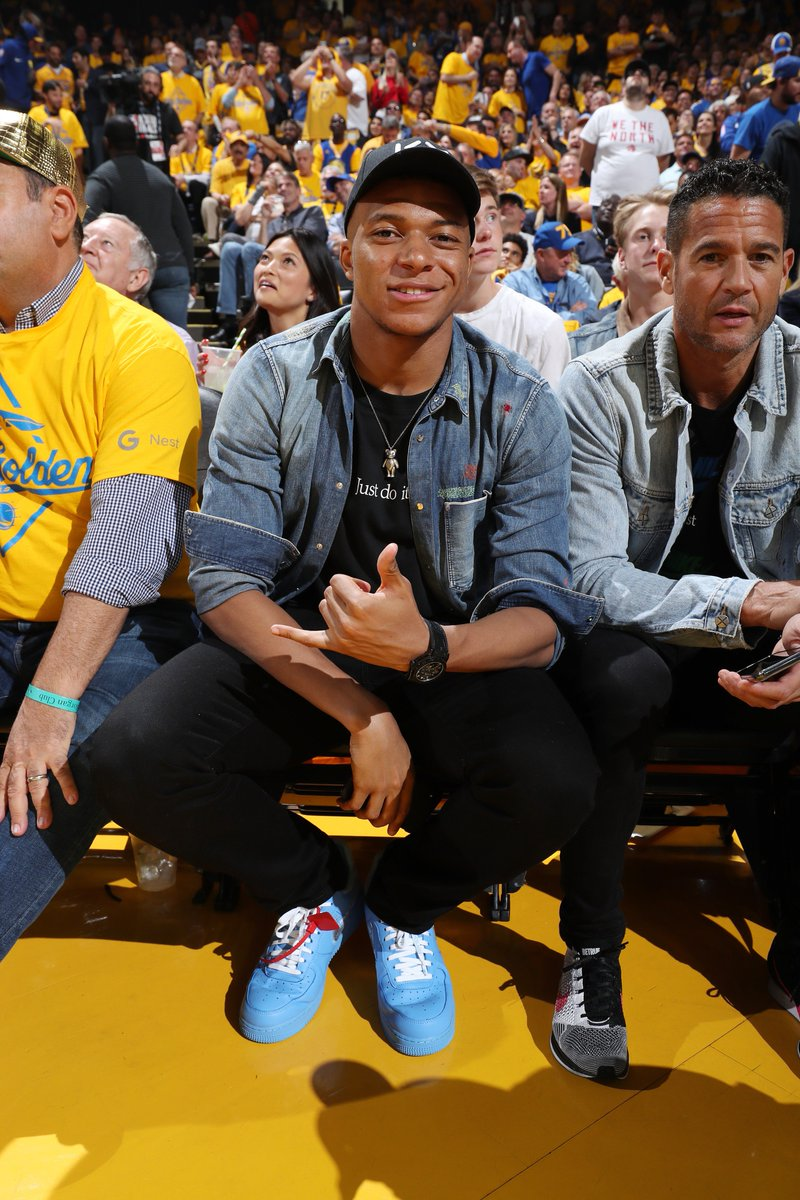 Kylian Mbappe's in the house. #NBAFinals