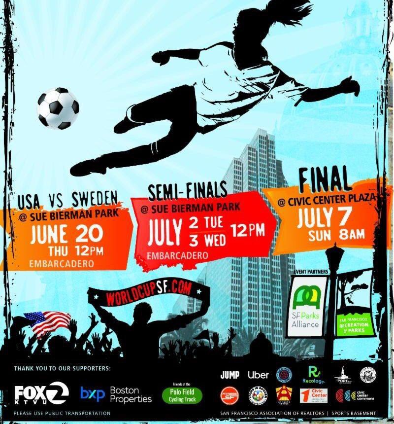 This year's matches at Sue Bierman Park will take place next Thursday, 6/20, as well as 7/2 & 7/3 at noon. The Final will be screened at @CivicCenter on Sunday, 7/7 beginning at 8AM! Thanks to all of our sponsors who make these viewings possible! More here https://t.co/kJUW92AWmU