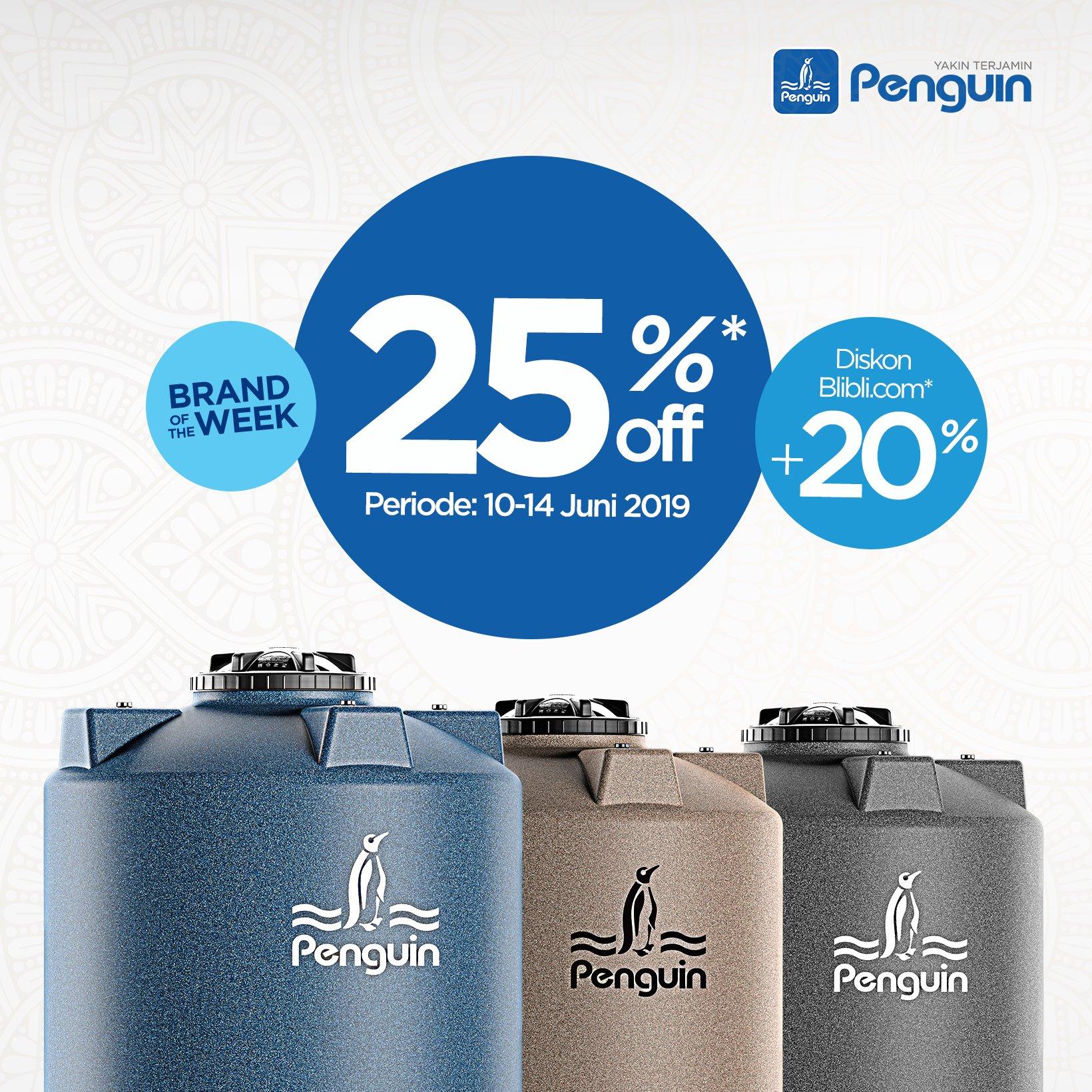 Daftar Harga Tangki Air Penguin Terbaru 2019