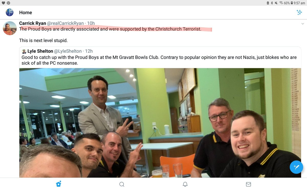 Wow.....I have just been threatened with defamation legal action by Mt Gravatt Bowls Club if I post their email reply publicly.  Btw...it includes them having no problem hosting the Proud Boys. @BowlsAustralia #auspol #MSM