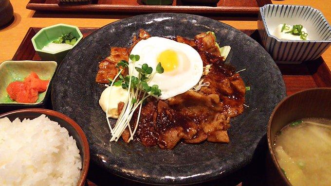 [英語日記] ちょっと豪華な定食 A little luxurious set meal