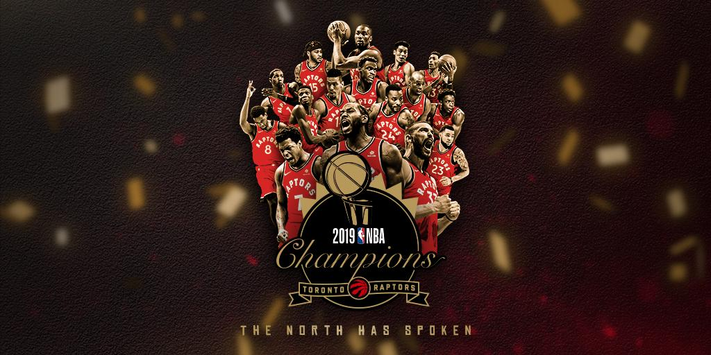 YOUR 2019 @NBA CHAMPS!   #WeTheNorth