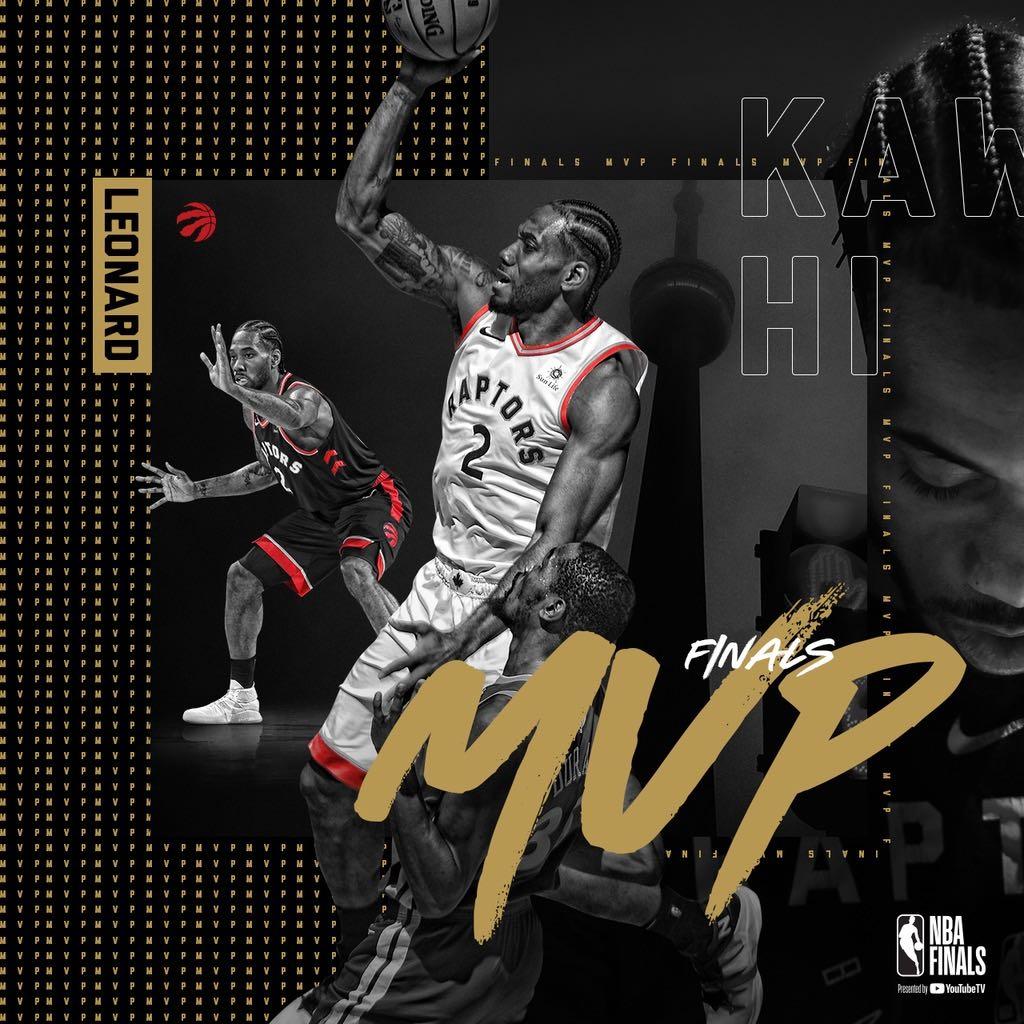 KAWHI LEONARD 2X FINALS MVP! #WeTheNorth