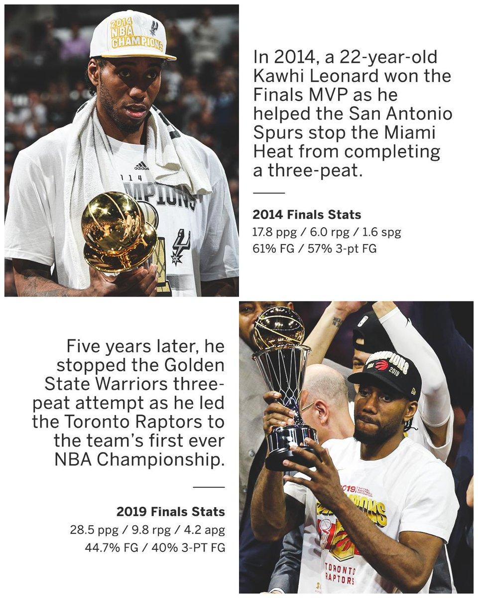 2-time #NBAFinals MVP, 2-time NBA Champion.