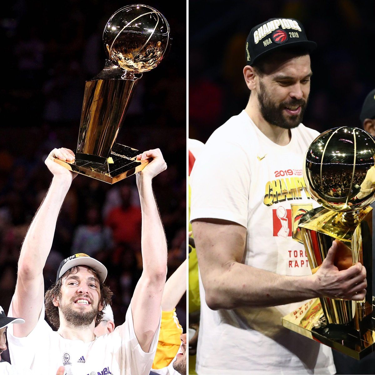 .@paugasol and @MarcGasol are the first set of brothers to win NBA titles 🏆 (via @EliasSports)