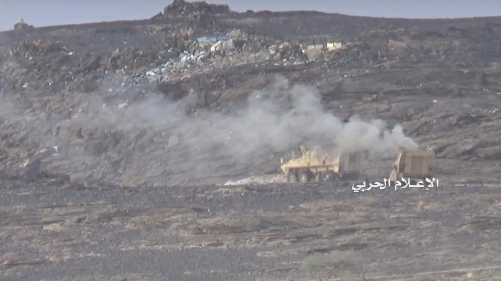 Бой хуситов в провинции Наджран: подбитые БМП интервентов и работа снайпера