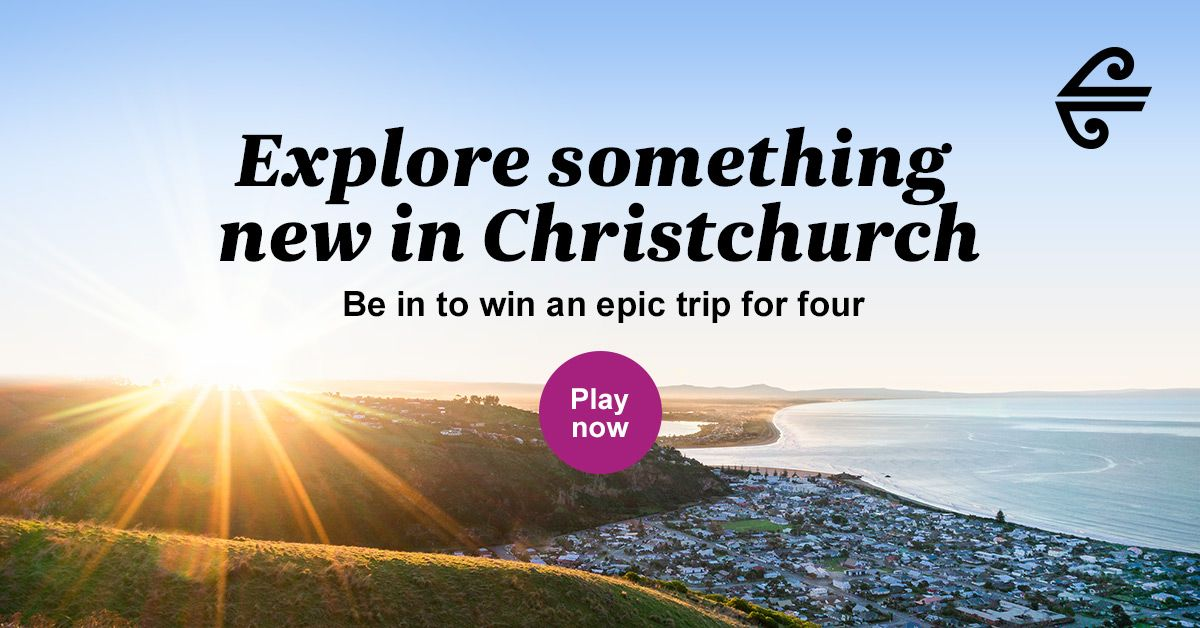 Play and WIN an epic prize for your family and friends to visit Christchurch! 😍 Ōtautahi Christchurch is the city of exploration, full of new secrets to discover – start your adventure now with Air New Zealand airnzexplorechristchurch.co.nz/?fbclid=IwAR1-…