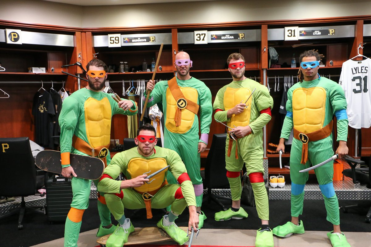 The Pirates represented nearly every comic/superhero universe with their road trip costumes